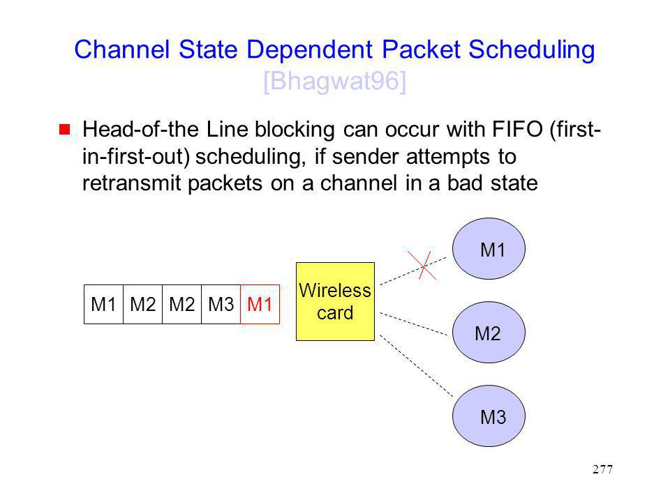 Channel State Dependent Packet Scheduling [Bhagwat96]